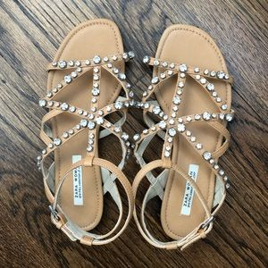 NWT Zara Collection Embellished Sandals